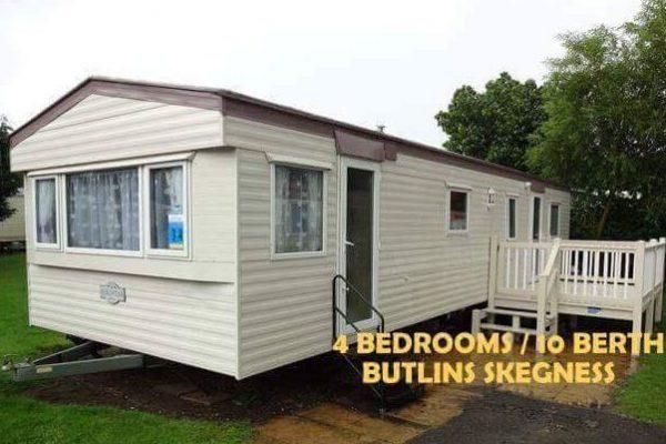 Skegness 4 bedroom caravan sleeps 10